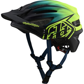 Troy Lee Designs A2 MIPS casco per bici, stain'd navy/yellow